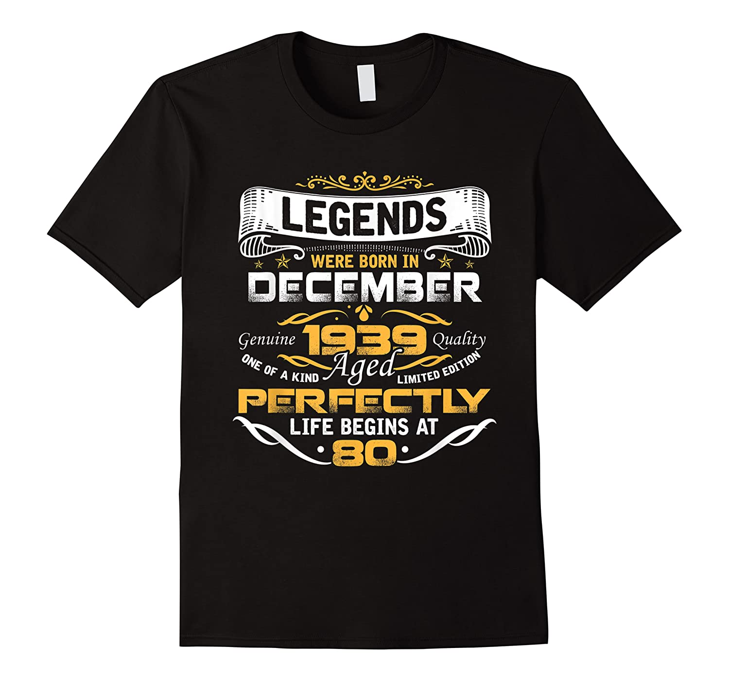 Awesome Legends Born In December 1939 80th Birthday Shirts