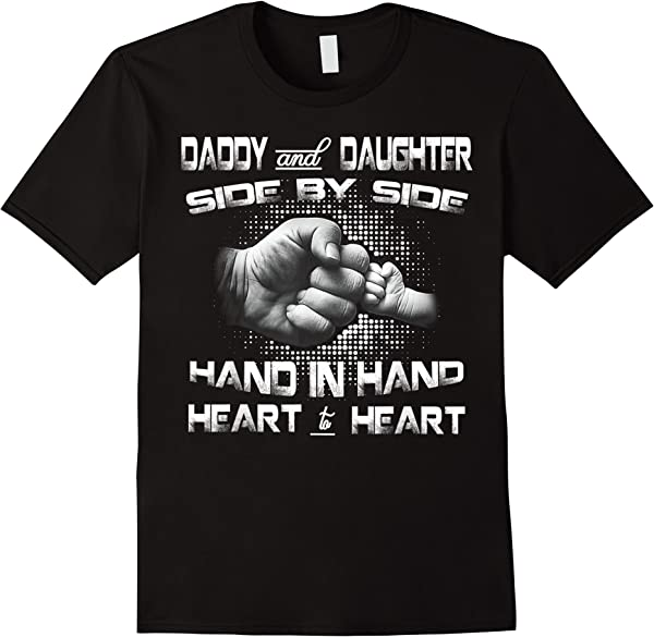 Daddy Daughter Fist Bump Father's Day Cute Family Dad Gift T-shirt