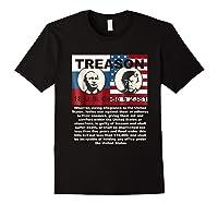 Trump Putin Treason T Shirt Impeach 45 Code 2381 Treason Black