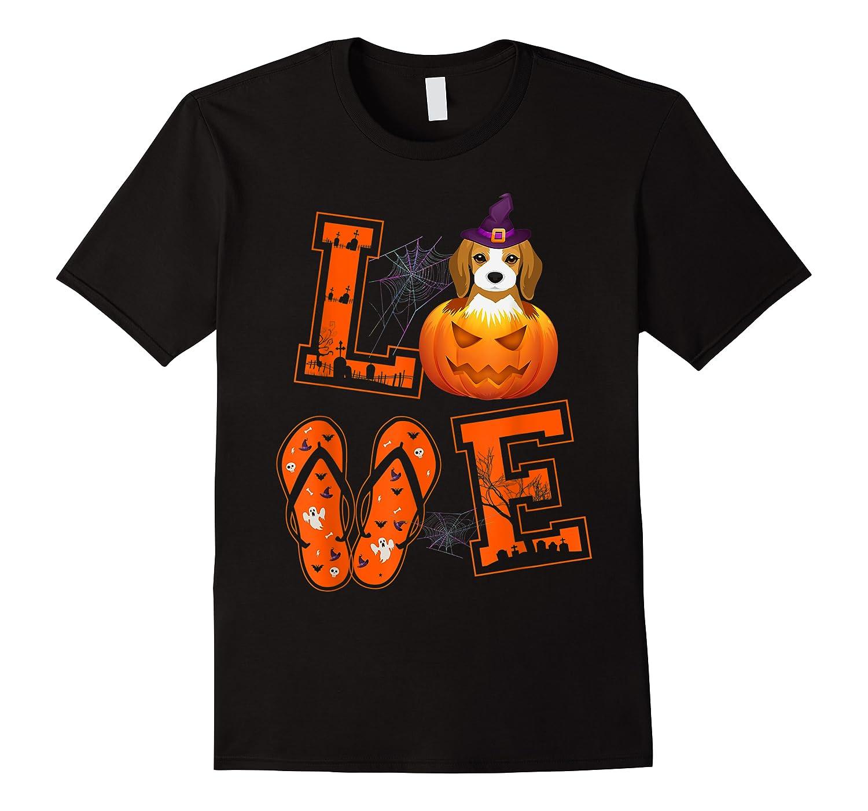 Love Beagle Pumpkin Halloween T-shirt Halloween Gifts