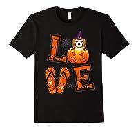 Love Beagle Pumpkin Halloween T-shirt Halloween Gifts Black