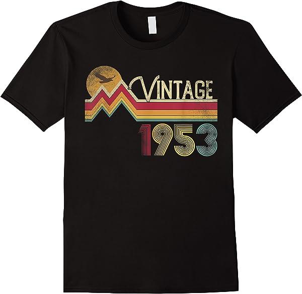 68th Birthday Shirt 1953 68 Years Old Vintage Retro Style T-shirt