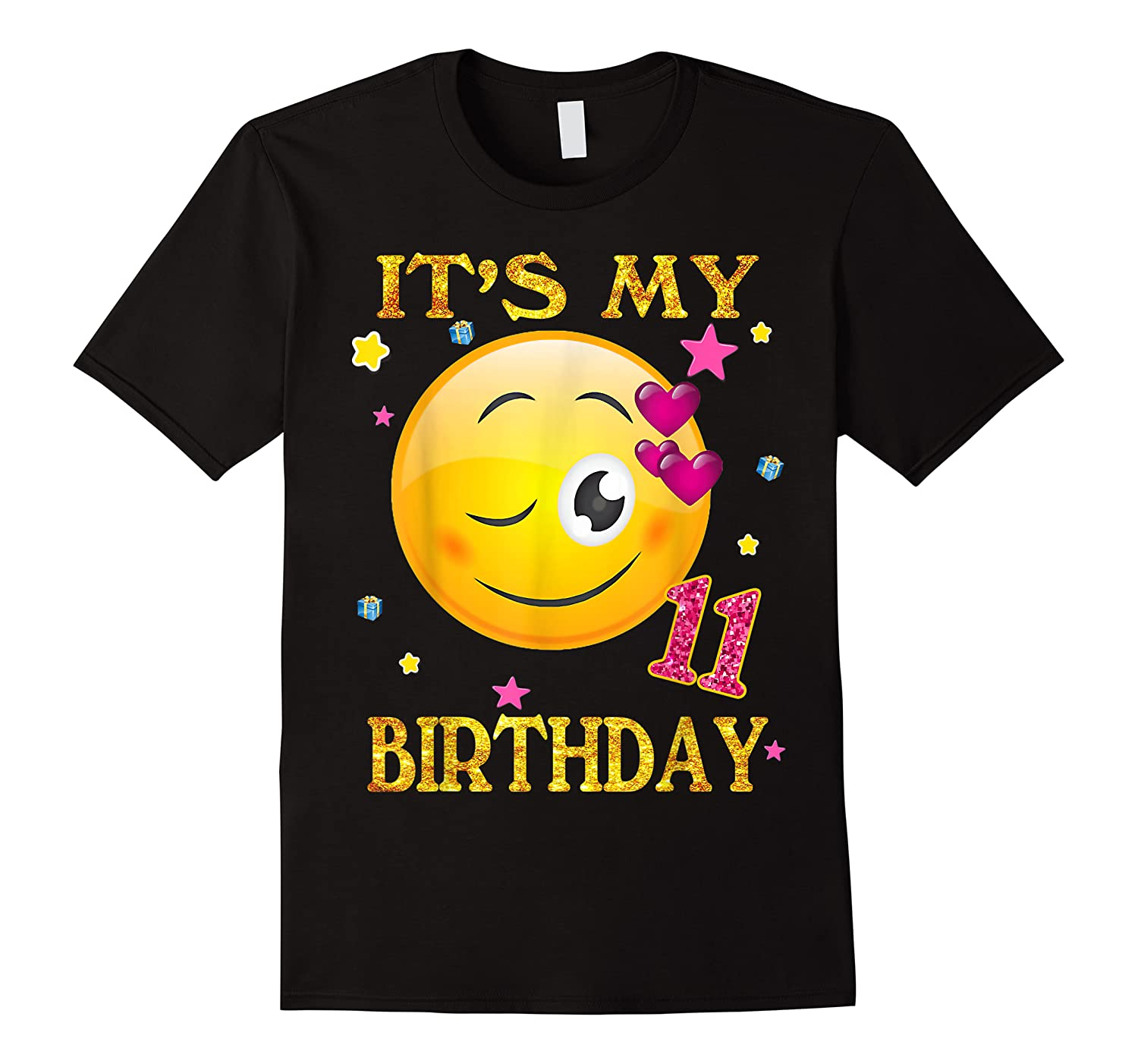 It's My 11th Birthday Girl 11 Years Old Gift Cute Face Shirts