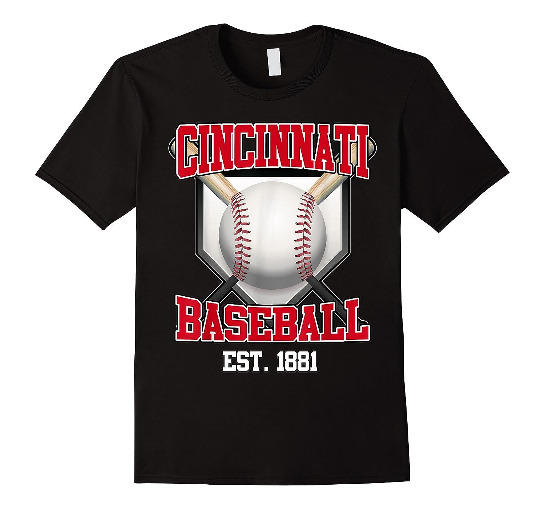 Cincinnati Baseball Retro Vintage Baseball Design Shirts
