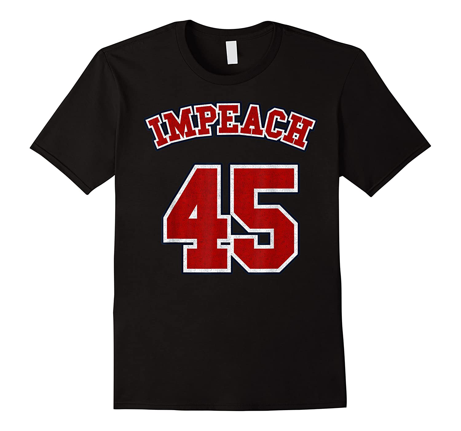 Anti Trump Red And Blue Retro Sports Style Impeach 45 T Shirt