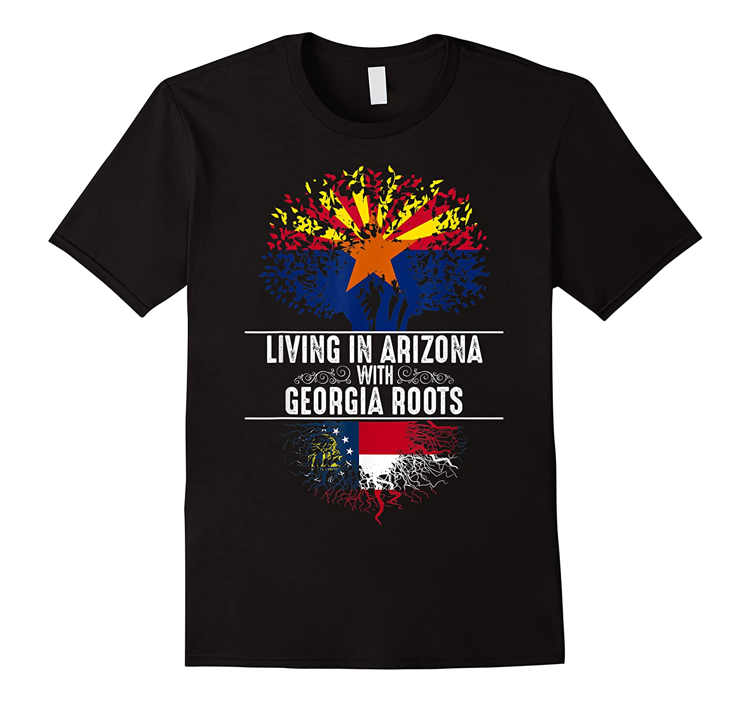 Arizona Home Georgia Roots State Tree Flag Love Gift Shirts