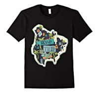 Road Trip 2019 Family Summer Vacation Hippie Van Surf Gift Zip Shirts Black