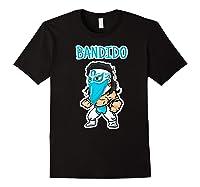 Feel Ink Bandido Bandit Lucha Libre Mexican Pro Wrestler Premium T Shirt Black