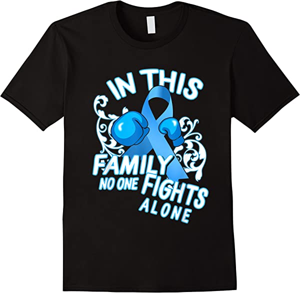 Dad Prostate Cancer Awareness Light Blue Ribbon Family Retro T-shirt