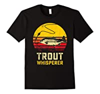 Trout Fishing Brook, Brown, Rainbow Trout Fish Gift Shirts Black