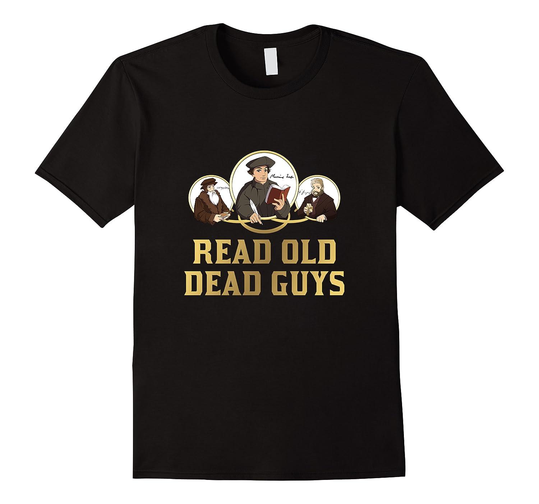 Read Old Dead Guys Funny Theology T Shirt Men Short Sleeve