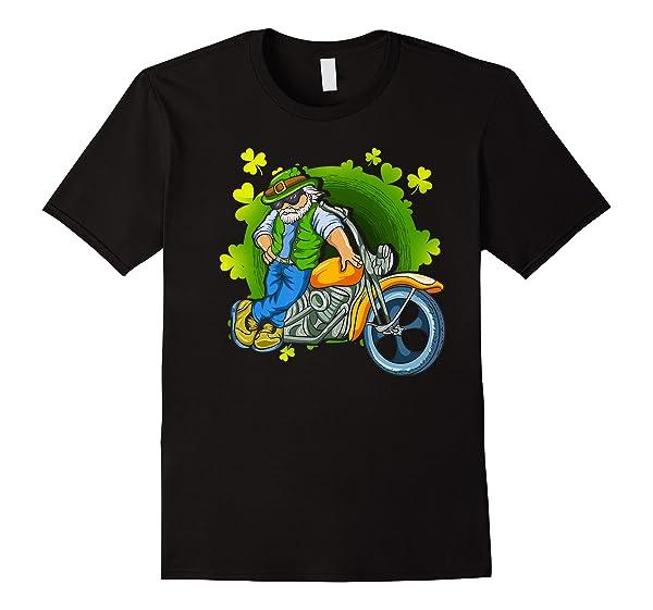 Irish Motorcycle Biker Dude Beard Patrick Old Man Papa Premium T Shirt