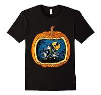Funny Pumpkin Vintage Halloween Pumpkin Costume Shirts Black