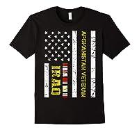 Proud Iraq Afghanistan Veteran Flag Gifts For Veteran Day T Shirt Black