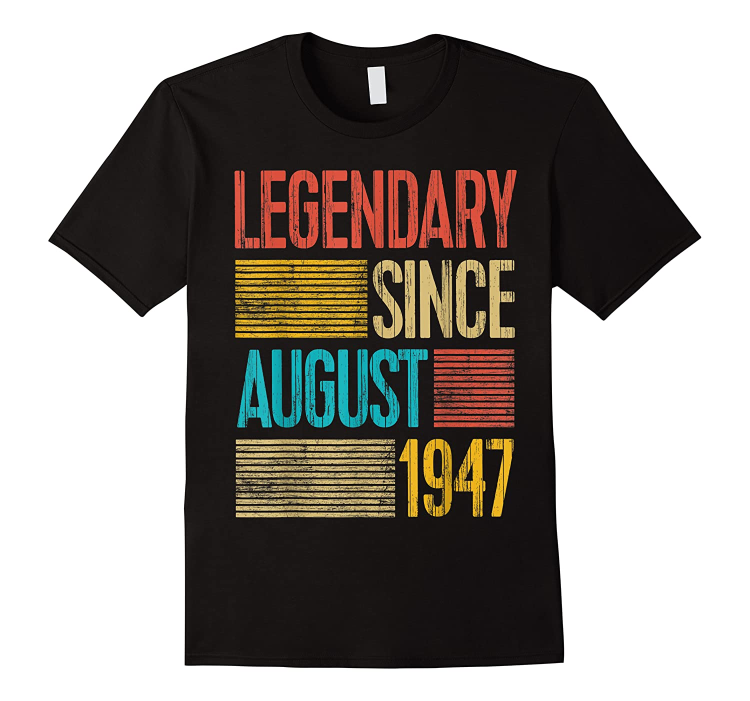 72nd Birthday Gifts Legendary Since August 1947 Shirts