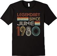 Legendary Since June 1980 41st Birthday 41 Years Old T-shirt Black