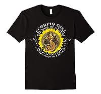 Scorpio Girl The Soul Of A Mermaid Tshirt Birthday Gifts Black