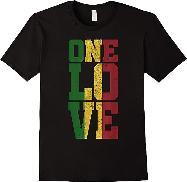 Herren One Love Shirt - Reggae Musik T-shirt Geschenk