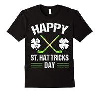 Saint Hattrick S Hockey St Patrick S Day Shamrock T Shirt Black