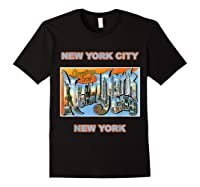 Lotta Shirts New York City Ny Postcard Greetings T Shirt Black