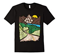 Road Trip 2019 Adventure Awaits Family Summer Vacation Gift Shirts Black