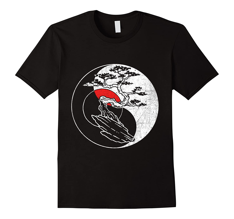 Spirit Soul Yin Yang Bonsai Tree Meditation Shirts Men Short Sleeve
