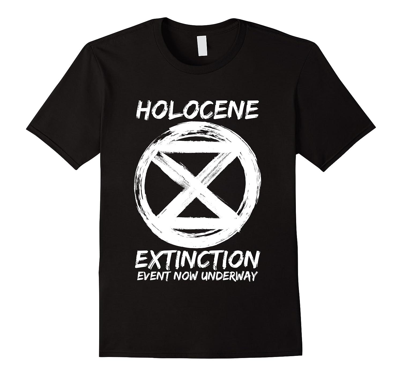 Holocene Mass Extinction Event Symbol Climate Change Science T Shirt Men Short Sleeve