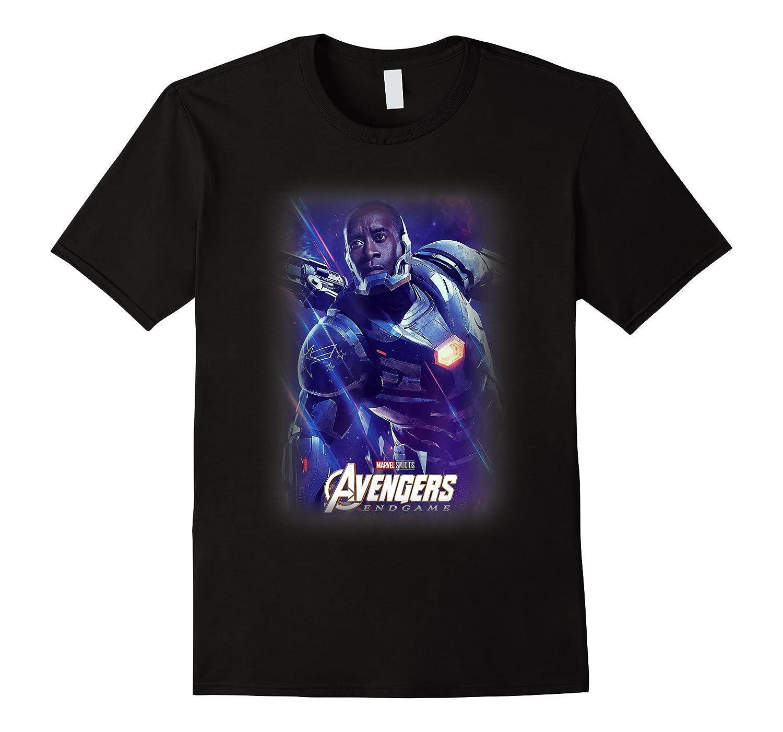 Marvel Avengers Endgame War Machine Galactic Poster T-shirt