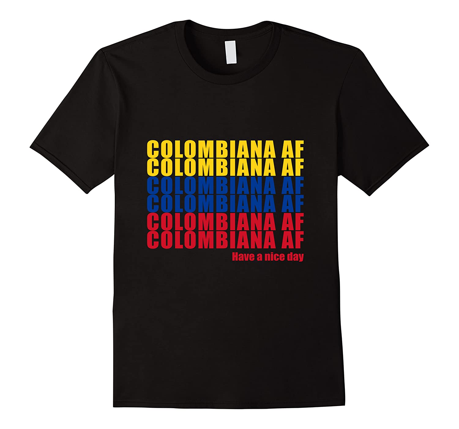 Colombiana Af Colombia Flag Colombian Roots T-shirt Men Short Sleeve