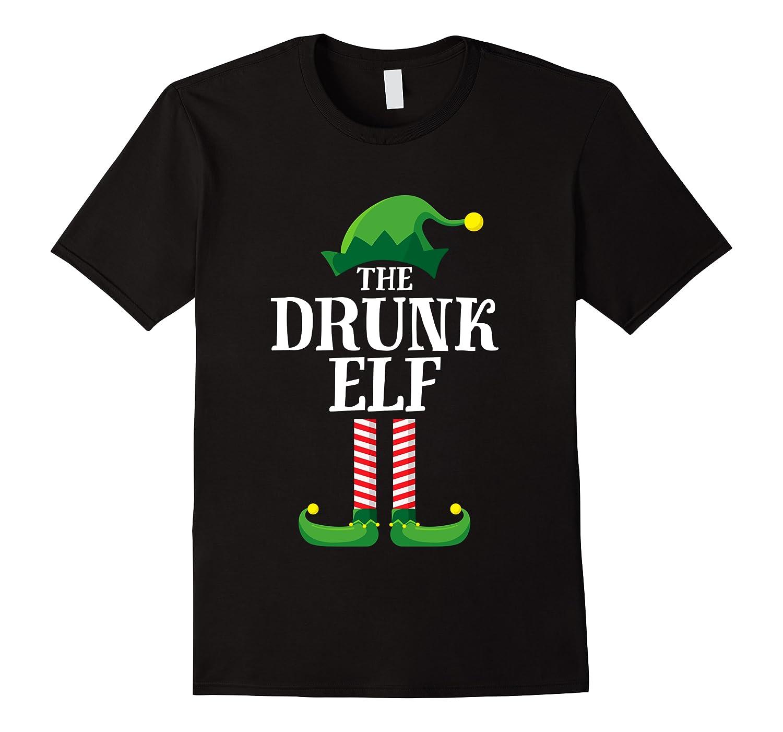Drunk Elf Matching Family Group Christmas Party Pajama Shirts Men Short Sleeve