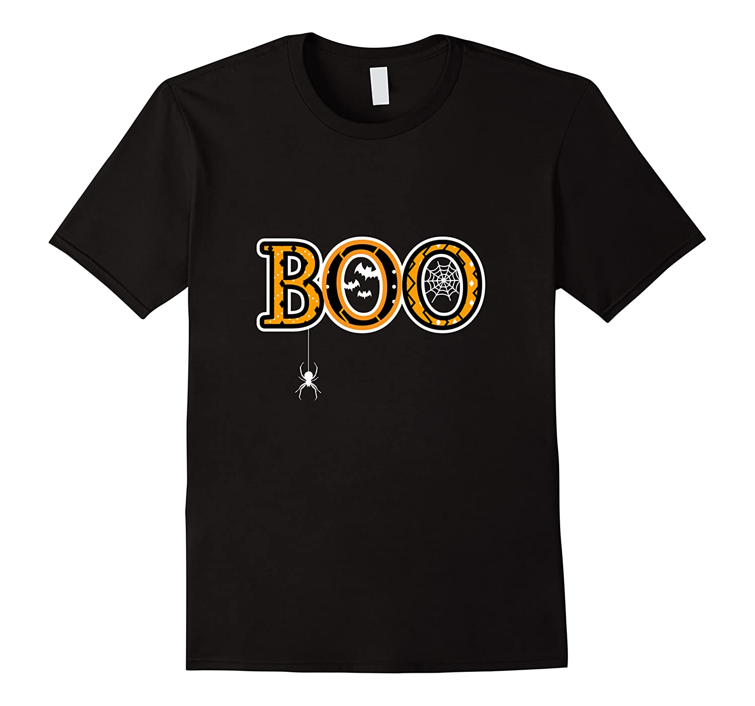 Boo Halloween With Spider Web And Bats Shirts Men Short Sleeve