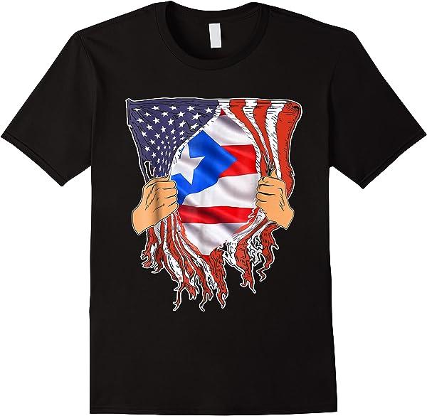 Puerto Rican Blood Inside Me Puerto Rico American Flag Shirt