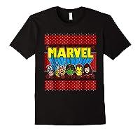 Avengers Classic Ugly Christmas Sweater Shirts Black