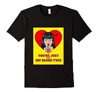 Halloween Bloody Not My Blood Type Vampire Graphic Shirts Black