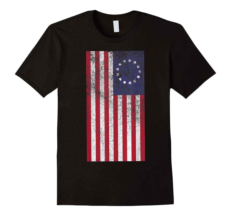 Vintage Retro Betsy Ross Shirt 4th Of July American Flag T Shirt