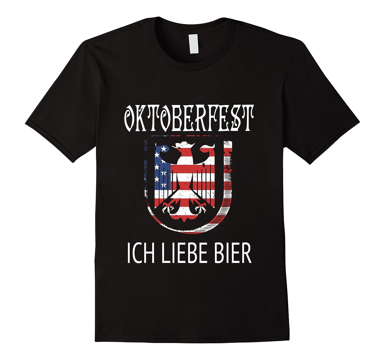 German Eagle Deutschland Us Flag Oktoberfest Shirts Men Short Sleeve
