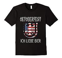 German Eagle Deutschland Us Flag Oktoberfest Shirts Black