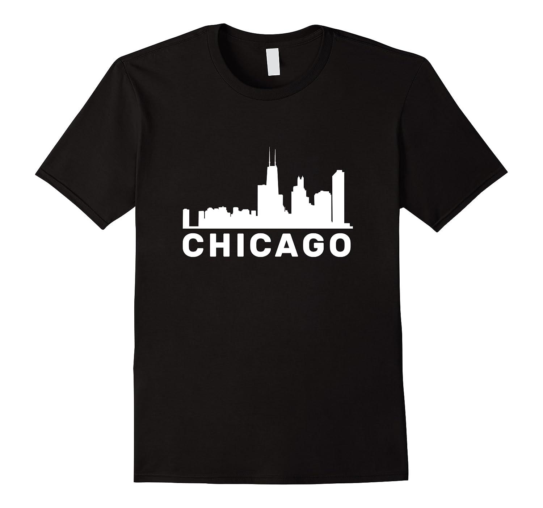 Chicago Illinois Skyline Gift City Skyline T Shirt Men Short Sleeve