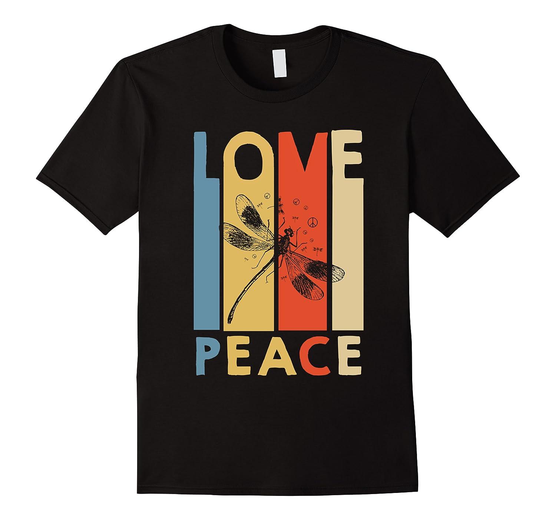 Love Peace Dragonfly Hippie Funny Shirts Men Short Sleeve
