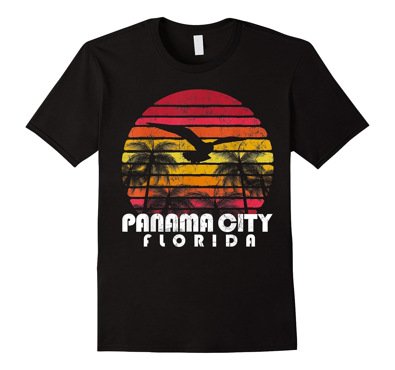 Vintage Retro Pa City Fl Florida Sunset Distressed Style T Shirt
