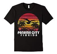 Vintage Retro Pa City Fl Florida Sunset Distressed Style T Shirt Black