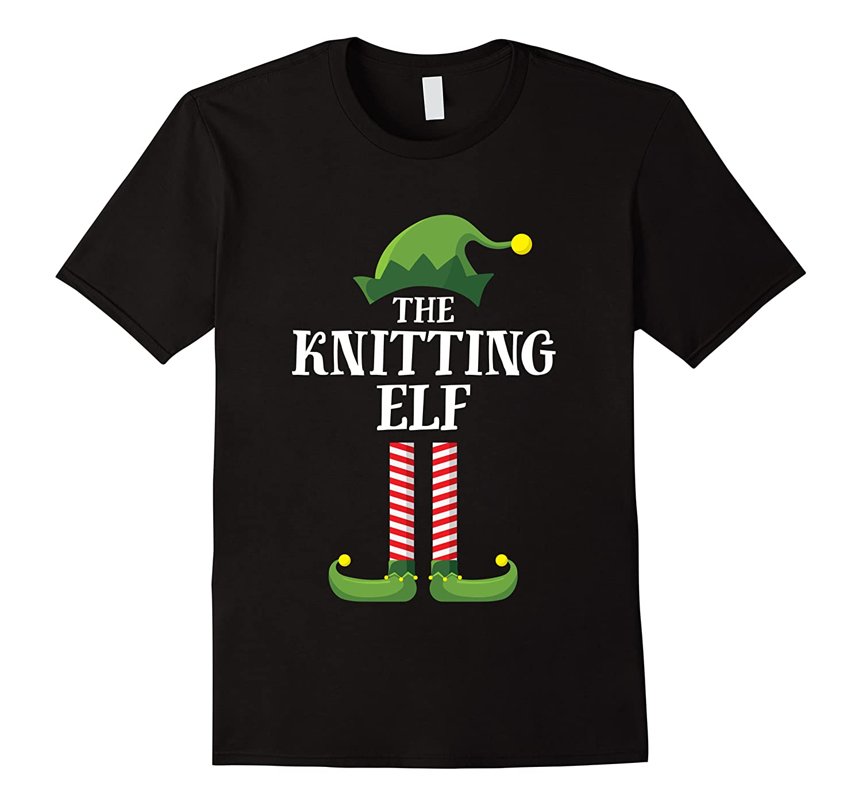 Knitting Elf Matching Family Group Christmas Party Pajama Shirts Men Short Sleeve