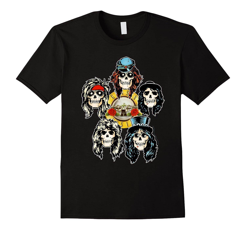 Guns N' Roses Skull Heads Shirts Men Short Sleeve