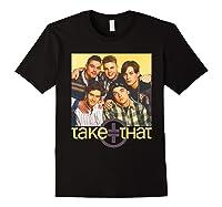 Take That Retro 90's Boyband Group Shot Shirts Black
