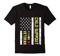 Child Support Veteran Tshirt Veteran Day Gift Pullover Black