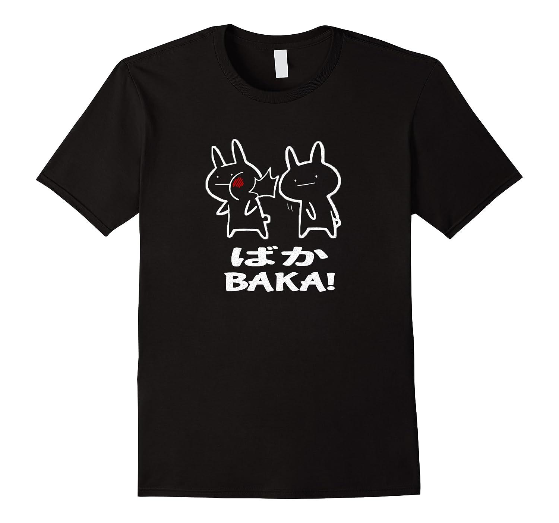 Baka Rabbit Slap Shirt Baka Japanese Funny Anime Pullover  Men Short Sleeve