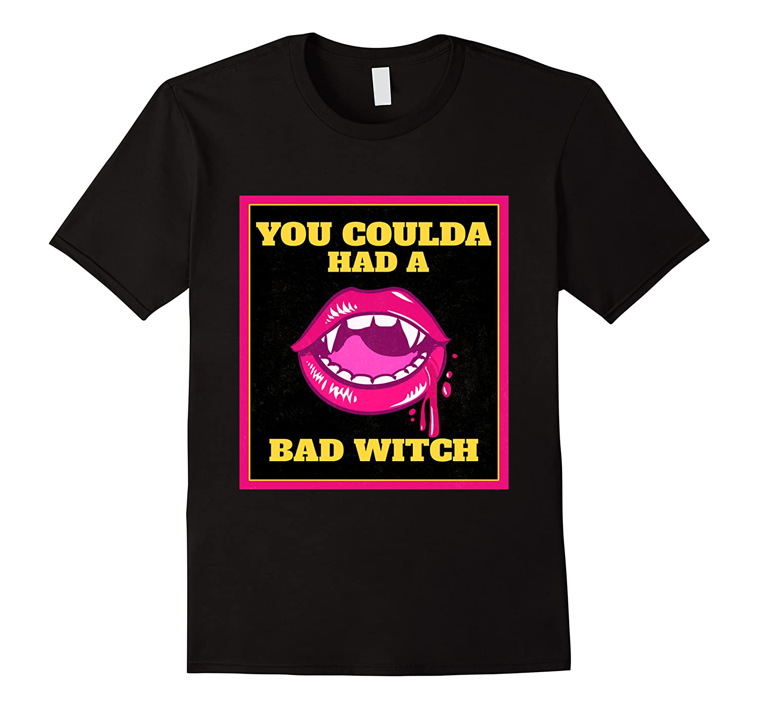 Lips You Coulda Had A Bad Witch Funny Halloween Gift T-shirt Men Short Sleeve