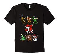 Dabbing Santa Friends Christmas Girls Xmas Gifts Shirts Black
