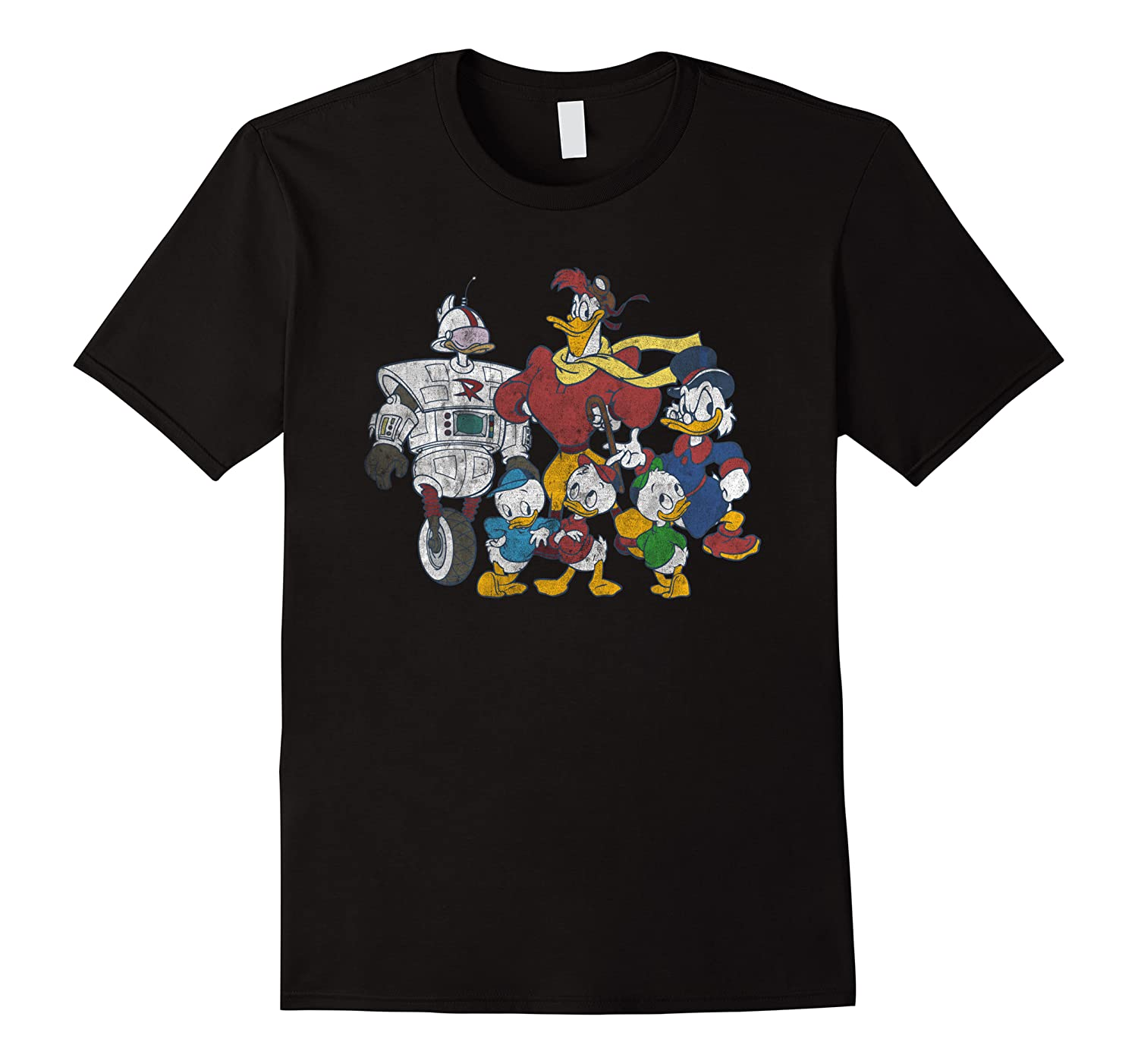 Duck Tales Tank Group Graphic Shirts Men Short Sleeve