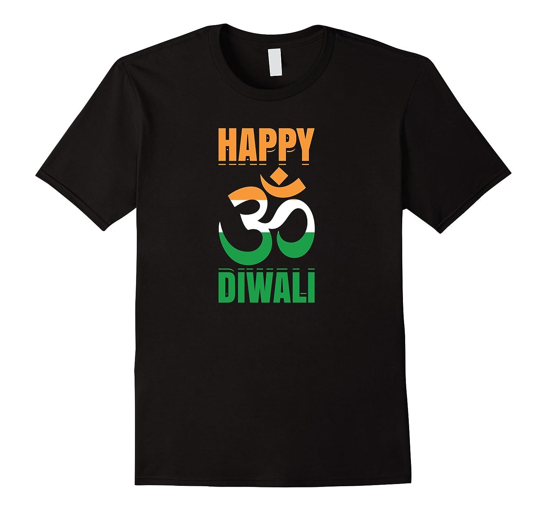 Happy Diwali Om India Flag Hindu Festival Of Lights Holiday Shirts Men Short Sleeve